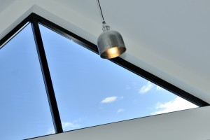 triangular skylight and pendant light