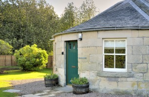 outside front door at Ray Bell's holiday cottage