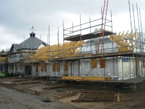 new build homes under construction