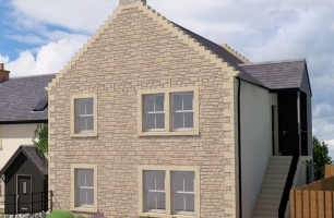 computer image of exterior of plot 244 and 245 - The Wark with shared ownership
