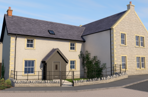 street view of the front elevation of semi detached house plot 243-245
