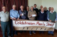 Coldstream Men's Shed receiving awards